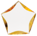 GOLD LUMINARY STAR ACRYLIC