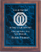 BLUE MARBLE PLQ PLT/CHERRY FINISH PLAQUE